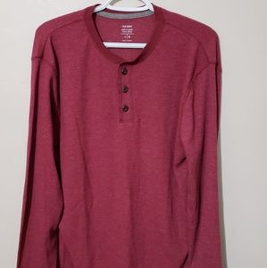 Old Navy long sleeve red button shirt size large